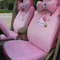 Hello Kitty Strawberry Universal Car Front Rear Seat Covers Plush fabrics 18pcs - Pink