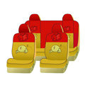 Naughty Winnie the Pooh Car Front Rear Seat Covers Universal 10pcs - Yellow