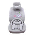 OULILAI Apple cat Car Front Rear Seat Covers Cartoon Plush Universal 19pcs - Gray
