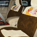 Winnie the Pooh Car Front Rear Seat Covers Universal 10pcs - Apricot
