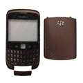 Front and Back Housing With Keypad Case for Blackberry Curve 9300 Mobile Phone - Coffee