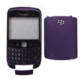 Front and Back Housing With Keypad Case for Blackberry Curve 9300 Mobile Phone - Purple