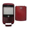 Front and Back Housing With Keypad Case for Blackberry Curve 9300 Mobile Phone - Red