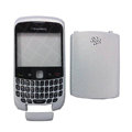 Front and Back Housing With Keypad Case for Blackberry Curve 9300 Mobile Phone - White