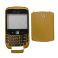 Front and Back Housing With Keypad Case for Blackberry Curve 9300 Mobile Phone - Yellow
