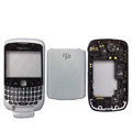 Front and Back Housing With Keypad Fullset for Blackberry Curve 9300 Mobile Phone - White
