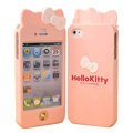 Hello kitty Scrub Hard Back Cases Skin Covers for iPhone 4G/4S - Light pink