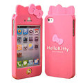 Hello kitty Scrub Hard Back Cases Skin Covers for iPhone 4G/4S - Rose