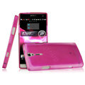IMAK Ultrathin Scrub Skin Cases Covers for Sony Ericsson LT26i Xperia S - Transparent Rose (High transparent screen protector)