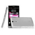 IMAK Ultrathin Scrub Skin Cases Covers for Sony Ericsson LT26i Xperia S - Transparent White (High transparent screen protector)