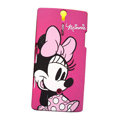 Minnie scrub hard skin cases covers for Sony Ericsson LT26i Xperia S - Red