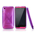 Nillkin Super Scrub Rainbow Cases Skin Covers for K-touch W700 - Purple (High transparent screen protector)