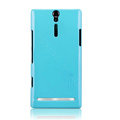 Nillkin bright side hard cases covers for Sony Ericsson LT26i Xperia S - Blue (High transparent screen protector)