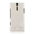 Nillkin bright side hard cases covers for Sony Ericsson LT26i Xperia S - White (High transparent screen protector)
