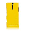 Nillkin bright side hard cases covers for Sony Ericsson LT26i Xperia S - Yellow (High transparent screen protector)