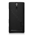 Nillkin scrub hard skin cases covers for Sony Ericsson LT26i Xperia S - Black (High transparent screen protector)