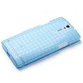 ROCK TPU soft cases skin covers for Sony Ericsson LT26i Xperia S - Blue (High transparent screen protector)
