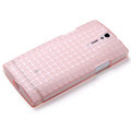 ROCK TPU soft cases skin covers for Sony Ericsson LT26i Xperia S - Pink (High transparent screen protector)