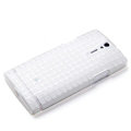 ROCK TPU soft cases skin covers for Sony Ericsson LT26i Xperia S - White (High transparent screen protector)