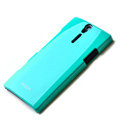 ROCK hard skin cases covers for Sony Ericsson LT26i Xperia S - Blue (High transparent screen protector)
