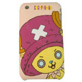 Cartoon Chopper Silicone Cases Covers Skin for iPhone 3G/3GS - Rose
