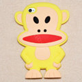 Cartoon Paul Frank 3D Silicone Cases Skin Covers for iPhone 4G/4S - Yellow