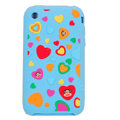 Cartoon Paul Frank Silicone Cases Covers Skin for iPhone 3G/3GS - Blue