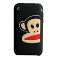 Cartoon Paul Frank Silicone Cases Skin Covers for iPhone 3G/3GS - Black