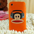 Cartoon Paul Frank Silicone Cases Skin Covers for iPhone 3G/3GS - Orange