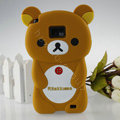 Cartoon Rilakkuma Silicone Cases Skin Covers for Samsung i9100 Galasy S II S2 - Brown
