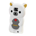 Cartoon Rilakkuma Silicone Cases Skin Covers for Samsung i9100 Galasy S II S2 - White
