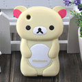 Cartoon Rilakkuma Silicone Cases Skin Covers for iPhone 3G/3GS - Beige
