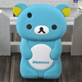 Cartoon Rilakkuma Silicone Cases Skin Covers for iPhone 3G/3GS - Blue