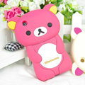 Cartoon Rilakkuma Silicone Cases Skin Covers for iPhone 3G/3GS - Rose