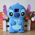 Cartoon Stitch Silicone Cases Skin Covers for Samsung i9100 Galasy S II S2 - Blue