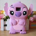 Cartoon Stitch Silicone Cases Skin Covers for Samsung i9100 Galasy S II S2 - Pink