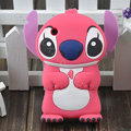 Cartoon Stitch Silicone Cases Skin Covers for iPhone 3G/3GS - Pink