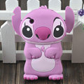 Cartoon Stitch Silicone Cases Skin Covers for iPhone 3G/3GS - Purple