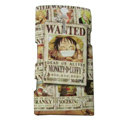 Cartoon scrub cases skin covers for Sony Ericsson LT26i Xperia S - Brown