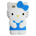 Hello kitty 3D Silicone Cases Skin Covers for iPhone 4G/4S - Blue
