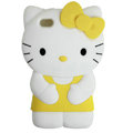 Hello kitty 3D Silicone Cases Skin Covers for iPhone 4G/4S - Yellow