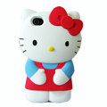 Hello kitty 3D Silicone Cases Skin Hard Covers for iPhone 4G/4S - Red