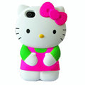 Hello kitty 3D Silicone Cases Skin Hard Covers for iPhone 4G/4S - Rose