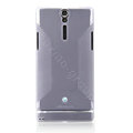 Nillkin Scrub Soft Silicone Cases Covers for Sony Ericsson LT26i Xperia S - White (High transparent screen protector)
