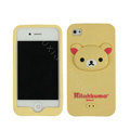 Rilakkuma Silicone Cases Skin Soft Covers for iPhone 4G/4S - Beige