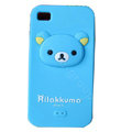 Rilakkuma Silicone Cases Skin Soft Covers for iPhone 4G/4S - Blue