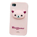 Rilakkuma Silicone Cases Skin Soft Covers for iPhone 4G/4S - Pink