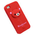 Rilakkuma Silicone Cases Skin Soft Covers for iPhone 4G/4S - Red