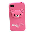 Rilakkuma Silicone Cases Skin Soft Covers for iPhone 4G/4S - Rose
