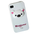 Rilakkuma Silicone Cases Skin Soft Covers for iPhone 4G/4S - White